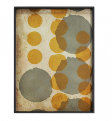 Notre Monde Tablett Sienna Layered Dots · 61x46 cm